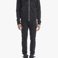 Cotton hoodie with straps | Mens sweaters | Balmain