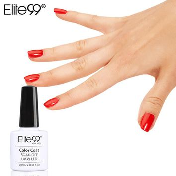 Elite99 New Style 1pcs Colorful Soak Off Nail Gel Polish 10ml Long Lasting UV Gel For Nail Art Beauty 12 Red Colors For Choosing