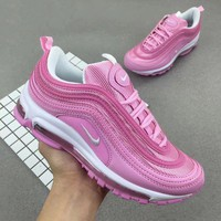 Nike Air Max 97 Fashion Women Running Sneakers Sport Shoes Pink I