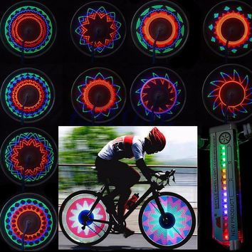 Bicycle Accessories Bike Flashlight 16 LED Car Motorcycle Cycling Bike Bicycle Tire Wheel Valve Flashing Spoke Light