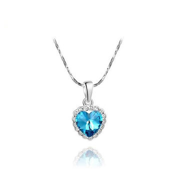 Gift New Arrival Stylish Shiny Sea Jewelry Crystal Necklace [9281911236]