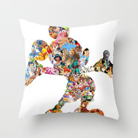 Mickey Mouse Silhouette  Throw Pillow by Christa Morgan ☽