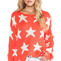Wildfox Couture Seeing Stars Lennon Sweater in Orange