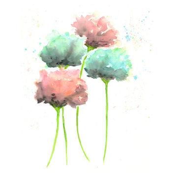 Best abstract watercolor flower paintings products on wanelo for Abstract watercolour flowers