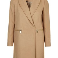 Slim Fit Boyfriend Coat | Topshop