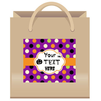 Halloween Gift Bag Labels - 6ct - Halloween Gift Box Labels - Halloween Decorations - Halloween Party Favors - Halloween Bags - Halloween