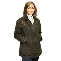 Barbour Classic Beadnell Ladies wax jacket in Olive Green