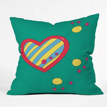 Isa Zapata Trukas Heart Throw Pillow