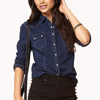 Western-Inspired Chambray Shirt