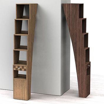 Stair Shelf by Michel Rouleau Patricia Gendron: Wood Shelf | Artful Home
