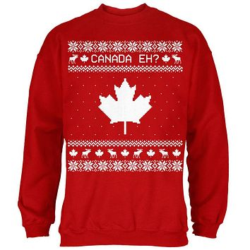Canadian Canada Eh Ugly Christmas Sweater Mens Sweatshirt