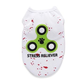 Stress Reliver Cat Shirt with Fidget Spinner Logo
