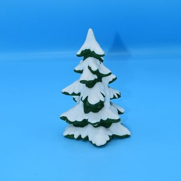 Ceramic Christmas Tree with Snow Vintage Small Snow Tree Table Top Decoration Christmas Holiday Decor Christmas Village Tree FREE SHIPPING