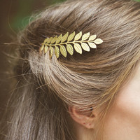 Grecian Leaf Bobby Pin Gold Leaf Hair Pin Leaf Hair Clip Greek Goddess Grecian Hair Accessories Bridal Hair Accessories Autumn Fall