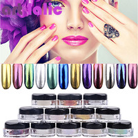 2g Box Mirror Chrome Effect pigments for Nails Shining Magic chrome nails pigment glitter powder Chameleon