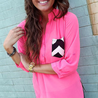 Hot Mess Tunic - Neon Pink | The Rage