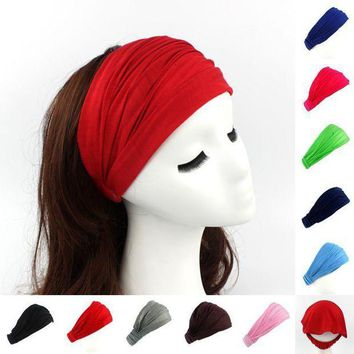 PEAPGC3 Ladies cotton Hairband Head Band Headband Wrap Neck Head Scarf Cap 2 in 1 Bandana