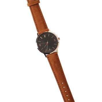 Brown Suede Watch