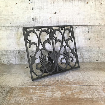 Book Stand Cast Iron Book Stand Easel Cast Iron Display Stand Music Sheet Stand Bible Stand Recipe Stand Art Display Cookbook Holder