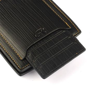 New Clutch Bifold Classic Leather Wallets for Men