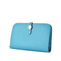 Hermes Wallet DOGON Duo Leather swift turquoise 2015.