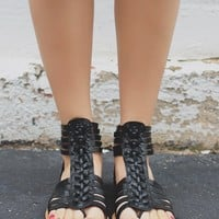 Rebellious Ways Sandals - Black