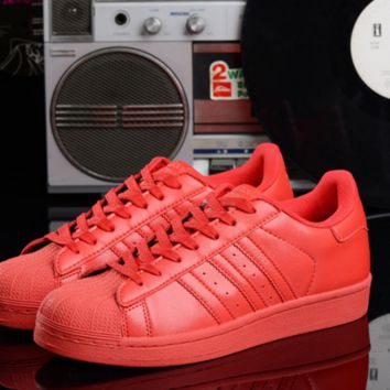 """Summer11""""Adidas"""" Fashion Shell-toe Flats Sneakers Sport Shoes colorful red"""