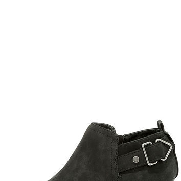Trenna Black Nubuck Ankle Booties