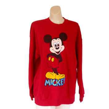 Vintage Mickey Sweatshirt Hipster Sweatshirt Adult Disney Shirt Mickey Mouse Shirt Plus Size Sweatshirt 90s Shirt Slouchy Sweatshirt Clothes