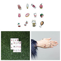 Finger Food - Temporary Tattoo Pack (Set of 2 Sheets)