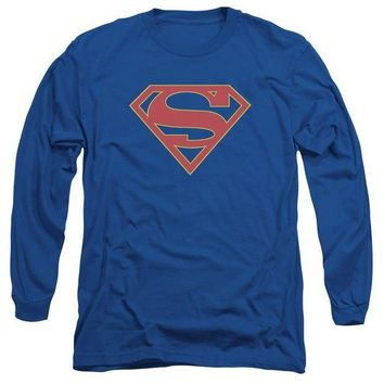 CREYM83 Supergirl - Logo Long Sleeve Adult 18/1
