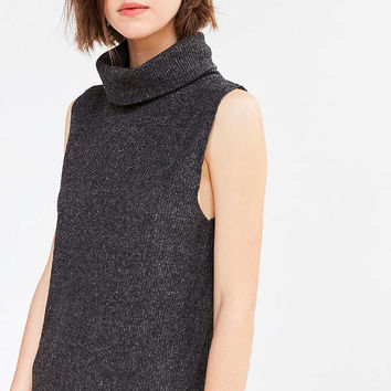 Silence + Noise Sage Cozy Turtleneck Mini Dress | Urban Outfitters