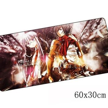 Cool Attack on Titan  padmouse 60x30cm anime pad to mouse notbook computer mousepad best gaming mouse pad gamer to laptop mouse mat AT_90_11