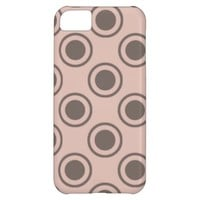 Decorative Circles on Salmon Background