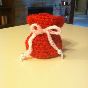 Crochet Valentine's Gift/Candy Bag