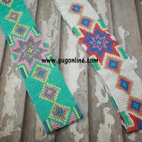 Beaded Headband in Starburst Designs