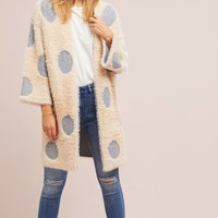 Polka Dot Long Cardigan