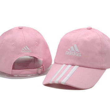 Pink Adidas Women Men Sport Sunhat Embroidery Baseball Cap Hat