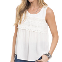 Dreamland Eyelet Paneled Top