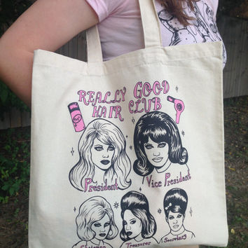 Really Good Hair Club tote bag