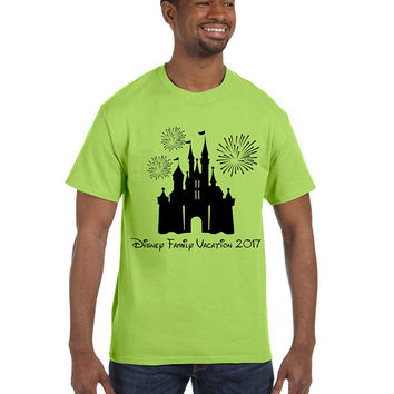 Disney Family Vacation 2017 T-Shirt // Disney Group // Family // Disneyland // Disney World // Disney Castle