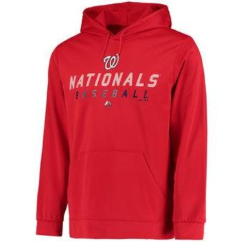 Washington Nationals Majestic MLB Red Ultra Streak Pullover Hoodie