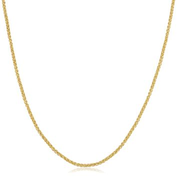 Fremada 14k Yellow Gold Filled 1.5mm Round Wheat Chain Necklace - Free Shipping On Orders Over $45 - Overstock.com - 19623749 - Mobile