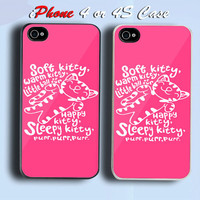 Soft Kitty Sheldon Big Bang Theory Custom iPhone 4 or 4S Case Cover