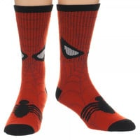 Spiderman Face Crew Socks
