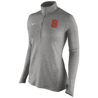 Syracuse Orange Nike Women's Stadium Element 1/2 Zip Performance Jacket - Gray