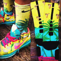 Nike Dri-FIT Elite Basketball Socks Custom LEBRONOLD PALMER Size Large