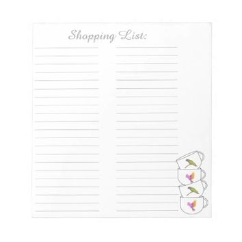 Grocery Shopping List Notepad