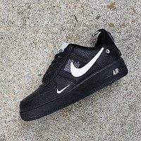 NIKE AIR FORCE 1 07 LOW Trending Women Men Stylish Running Sports Shoes Sneakers Black