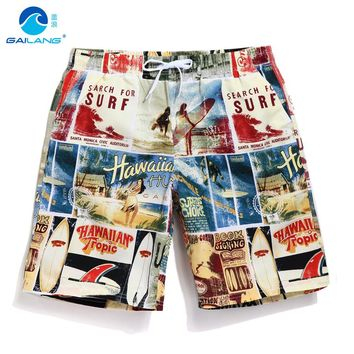 Summer board shorts men swimming trunks quick dry beach surfing joggers sweat running shrots boardshorts gym fitness brand